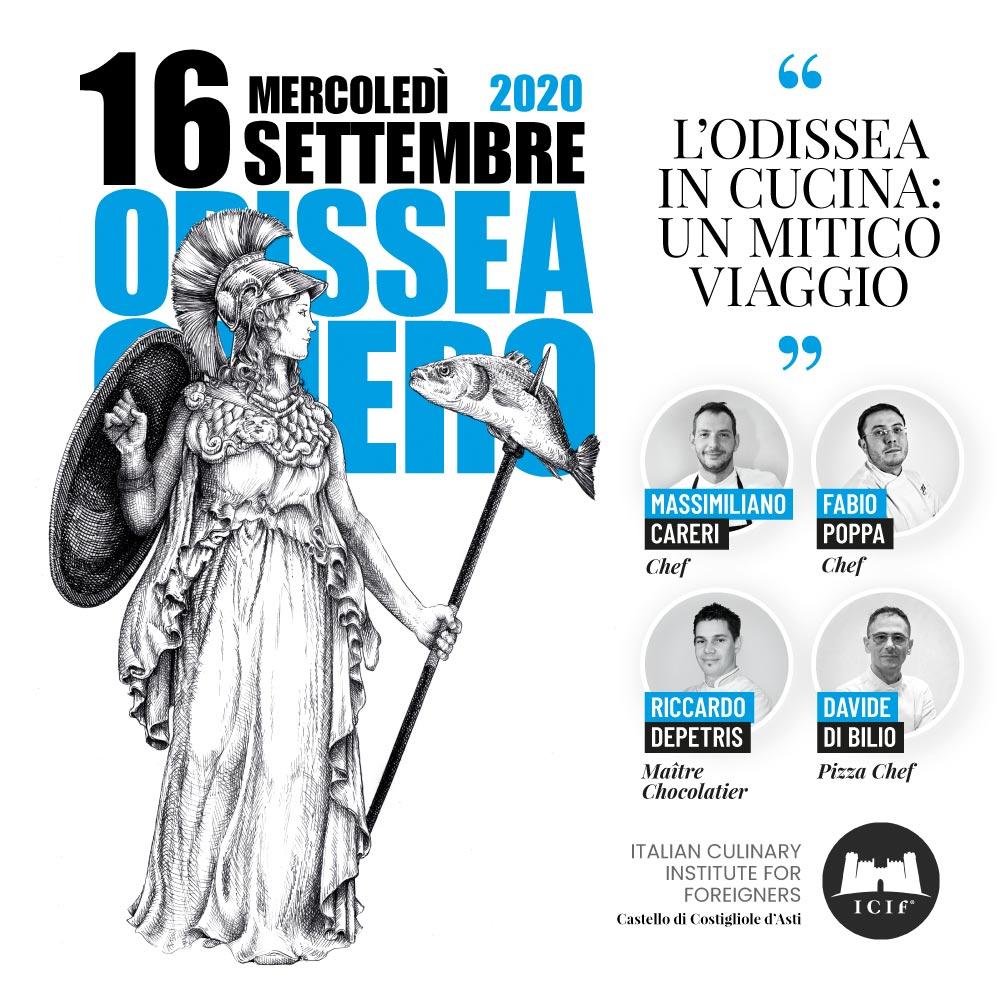 16 settembre 2020: cena letteraria sull'Odissea presso l'ICIF, Castello di Costigliole d'Asti