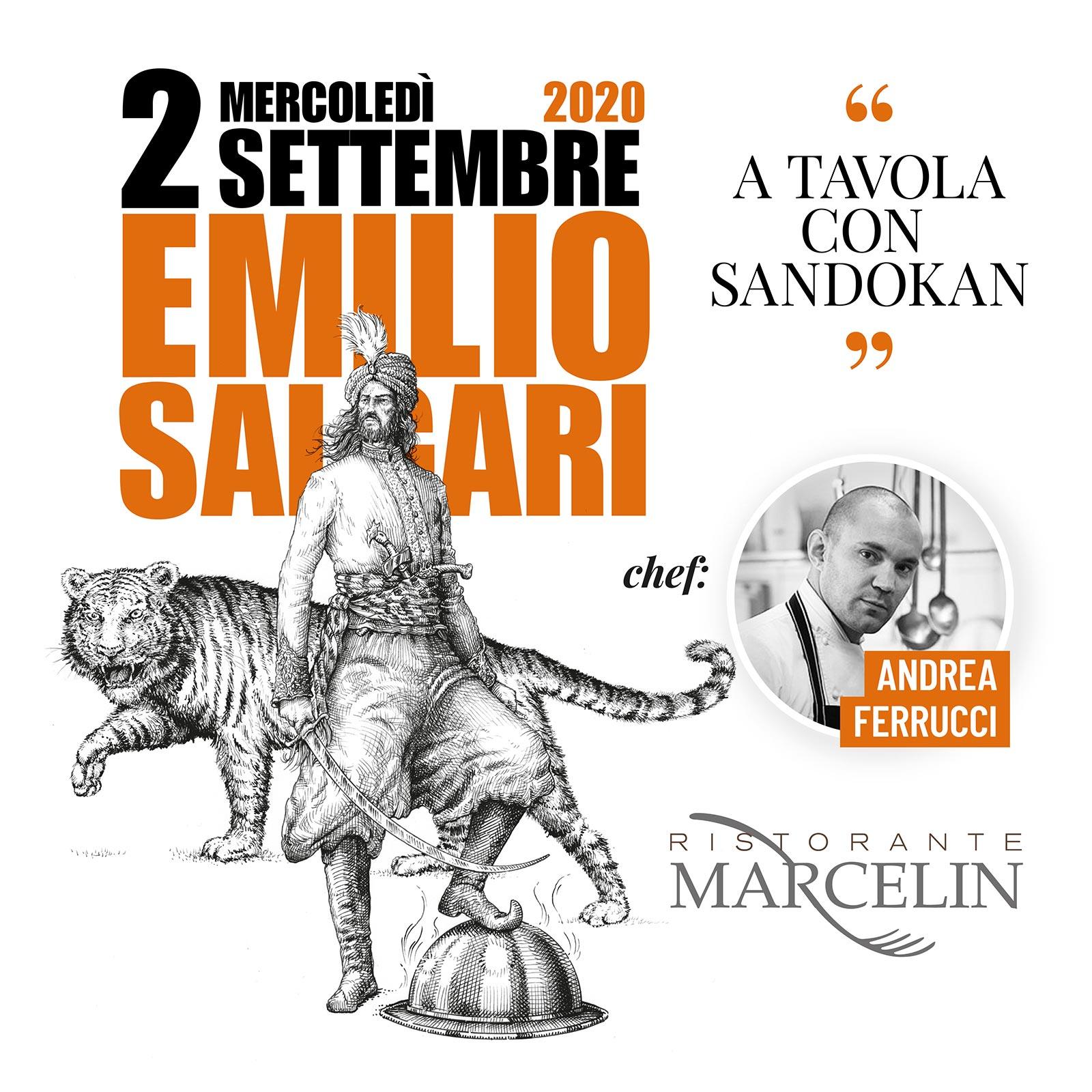 2 settembre 2020 - Cena letteraria su Emilio Salgari al ristorante Marcelin di Montà, Cn